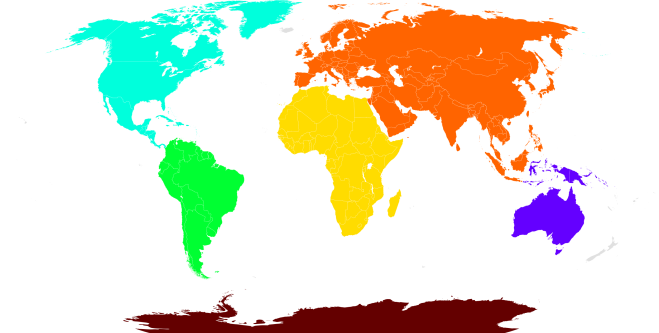 new continents